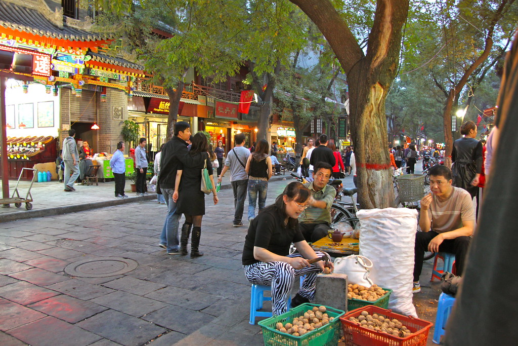 Muslim Quarter and Walnuts - Xi'an, China - Photo