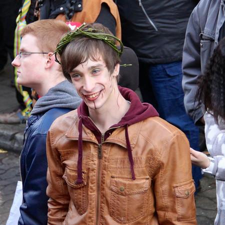 Smiles at Carnival in Dusseldorf, Germany