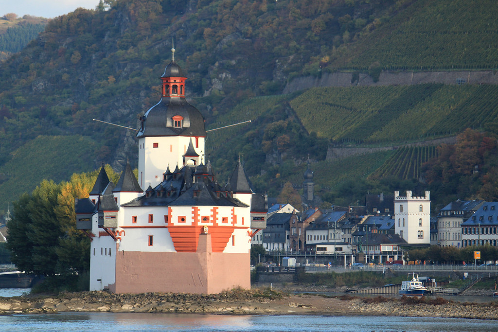 Castle in the Rhine River Gorge