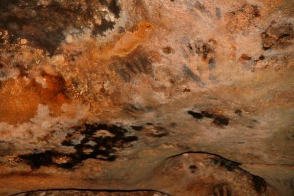 hand prints in Grutis (Caves) de Loltun, Yucatan, Mexico