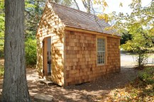 traditional garage and shed