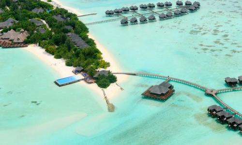 Olhuveli Resort nhìn từ trên cao. Ảnh - Booking.com
