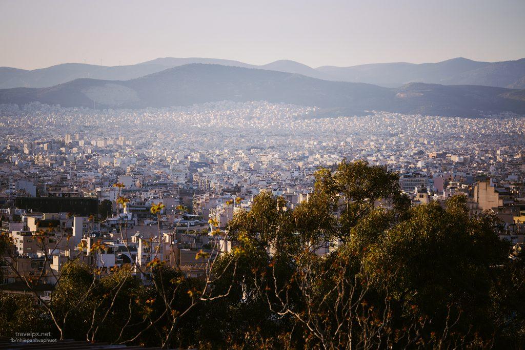 Athens nhìn từ đỉnh Acropolis