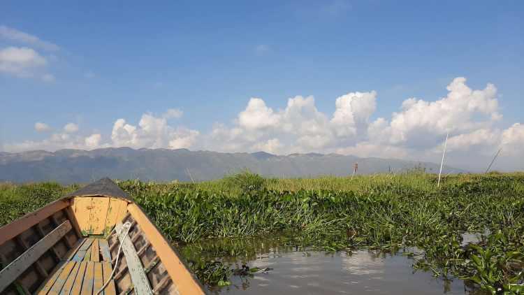 Inle Lake navegar ao sabor do Lago Inle