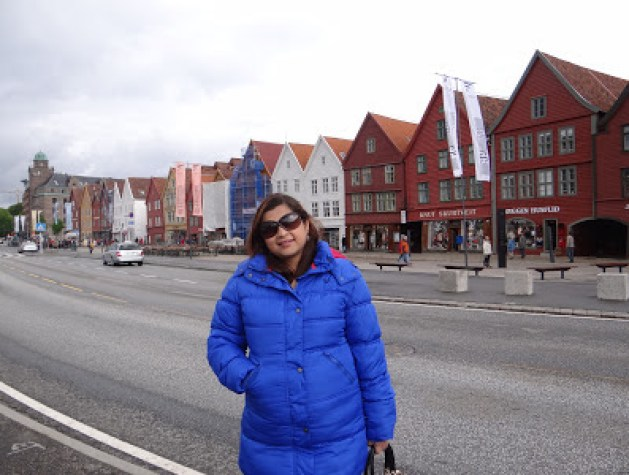 Myself in Bergen, the cultural capital of Norway and a world heritage city.