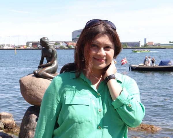 The statue of Little Mermaid in Copenhagen, Denmark, Travel Realizations