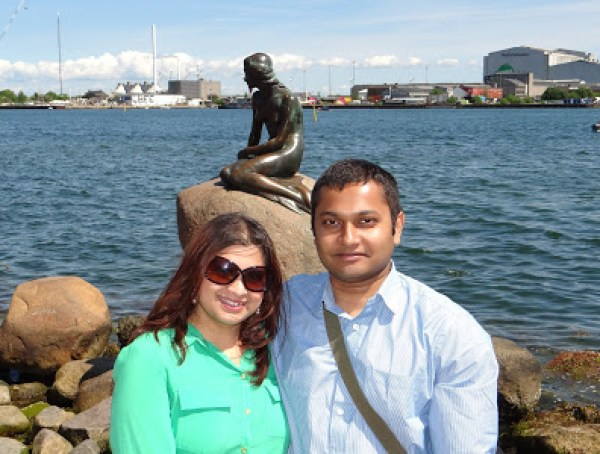 The statue of Little Mermaid in Copenhagen, Denmark, Travel Realizations