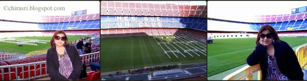 Inside Camp Nou Stadium