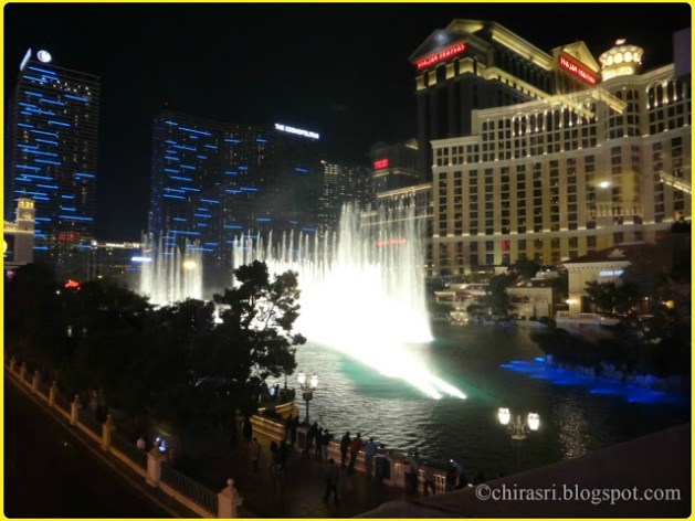The fountain of Bellagio.