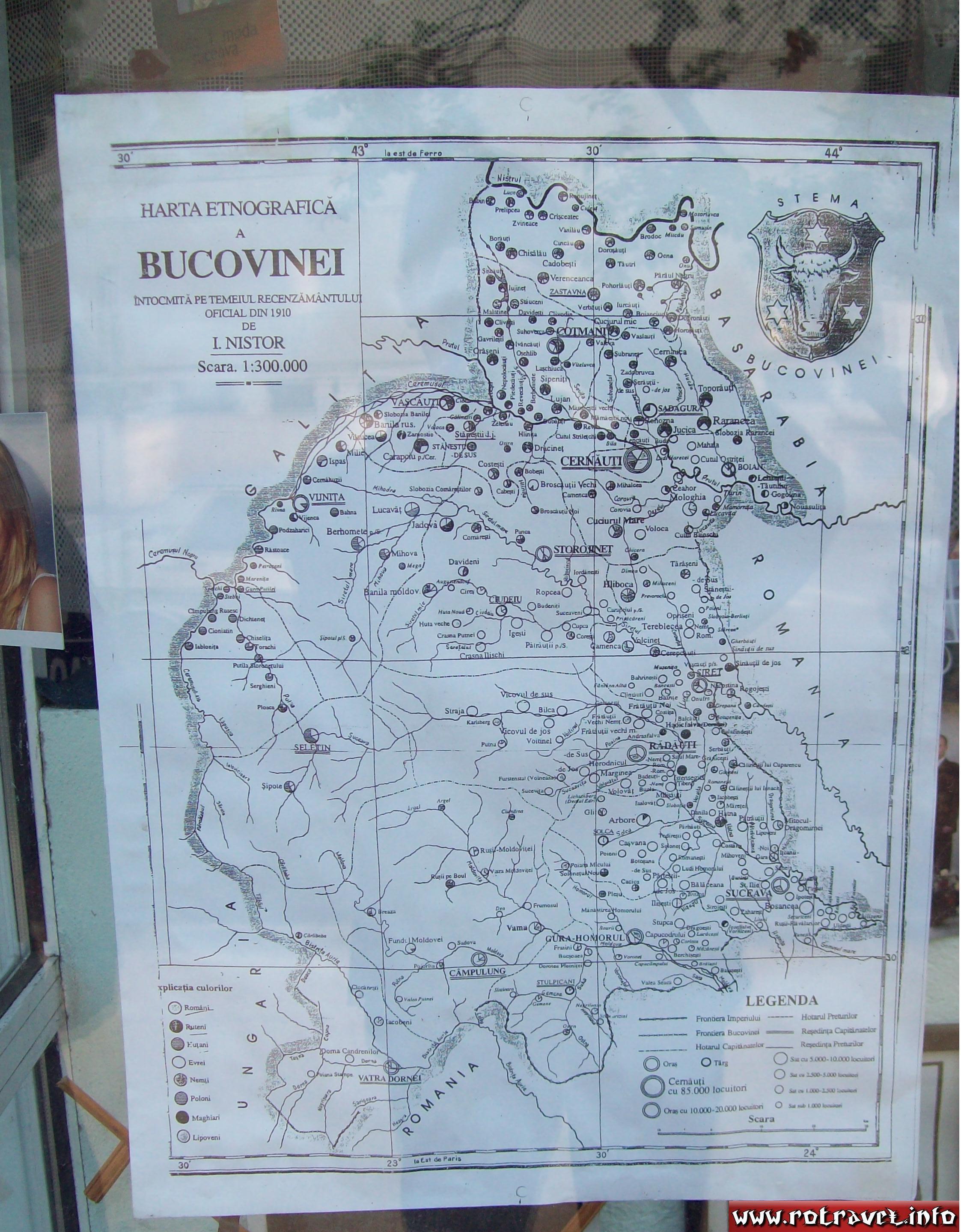 Map of Bukovina