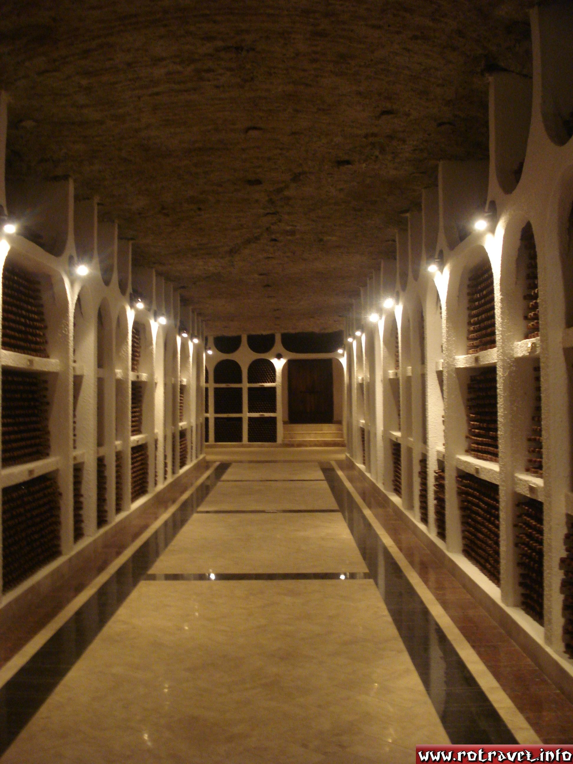 The cellar where is kept the wine collections.