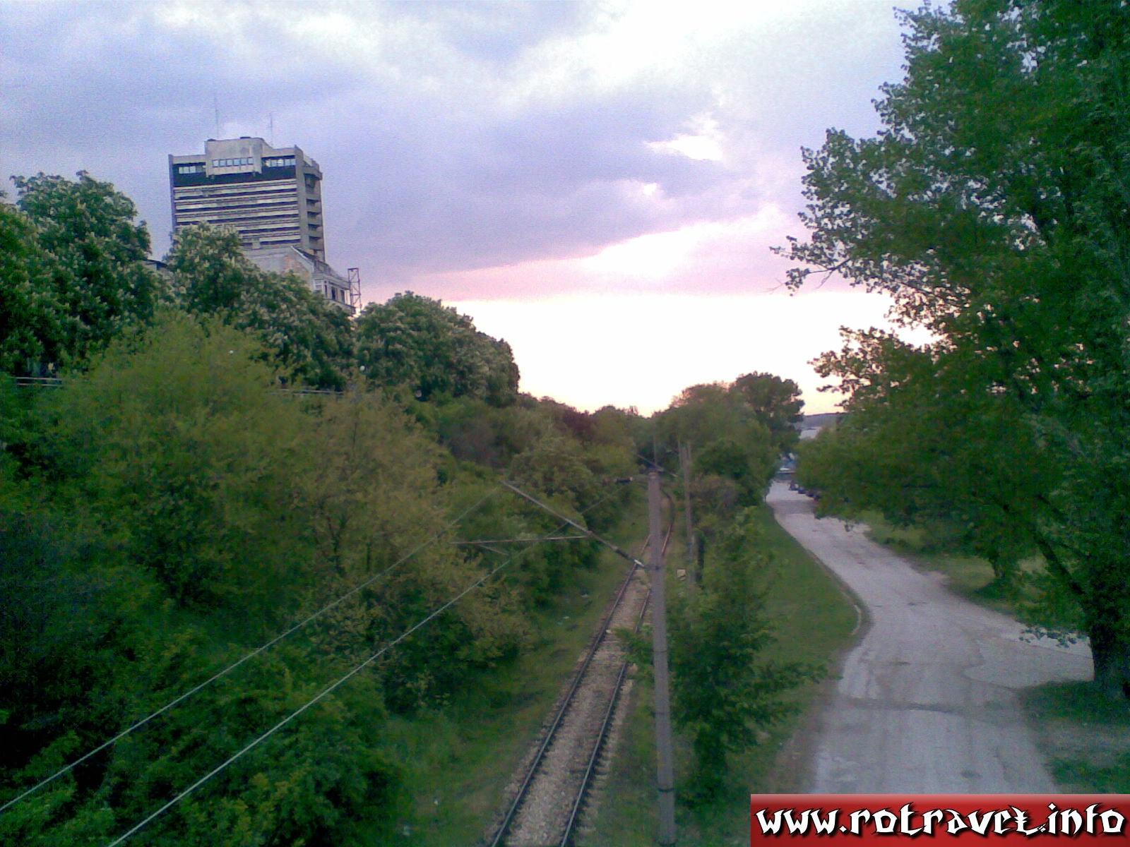 Near to Danube, on a gangway
