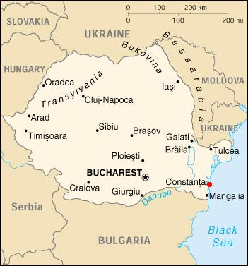 Constanţa on the map
