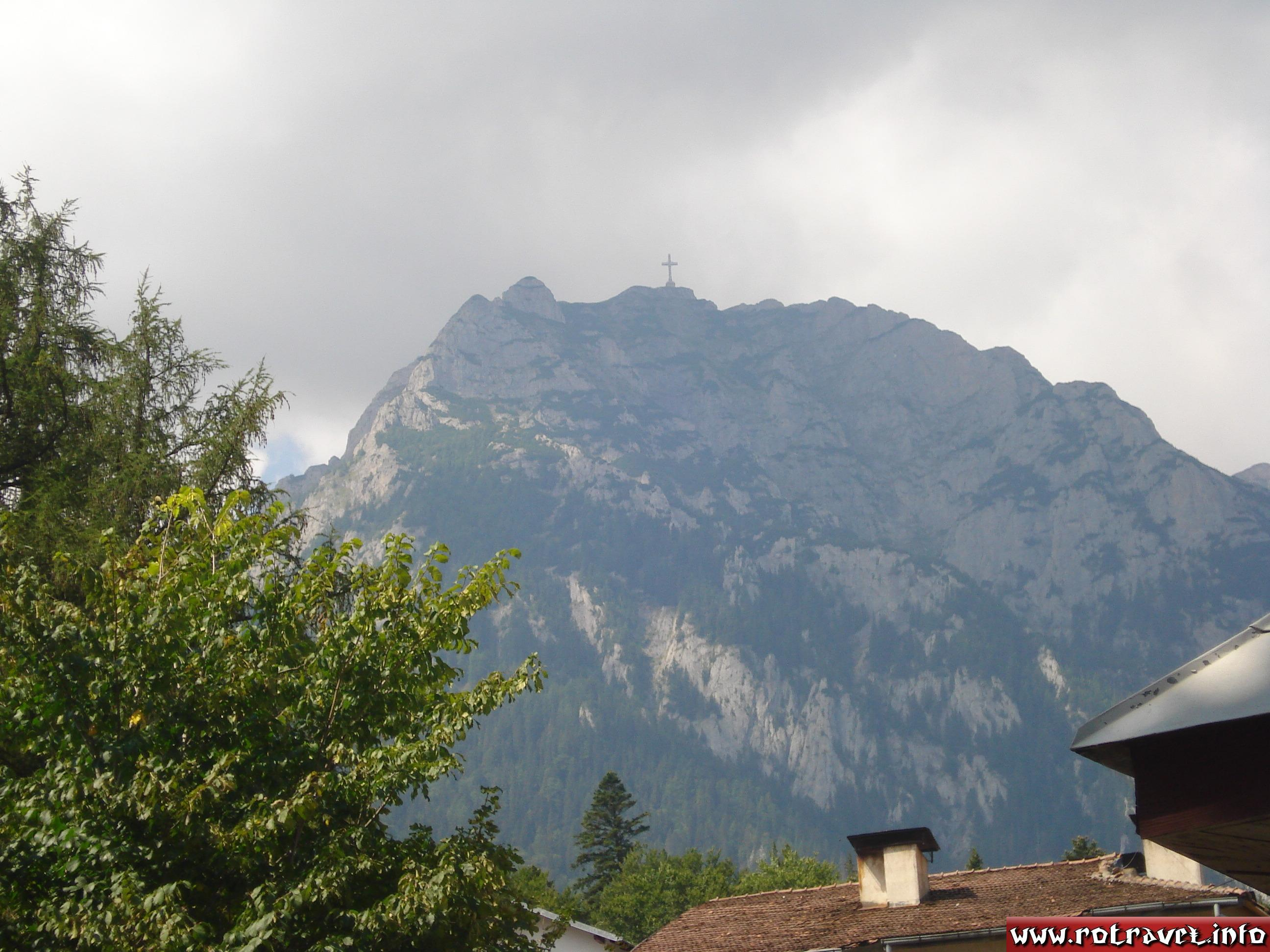 Heroes Cross from Caraiman Peak seen in Busteni