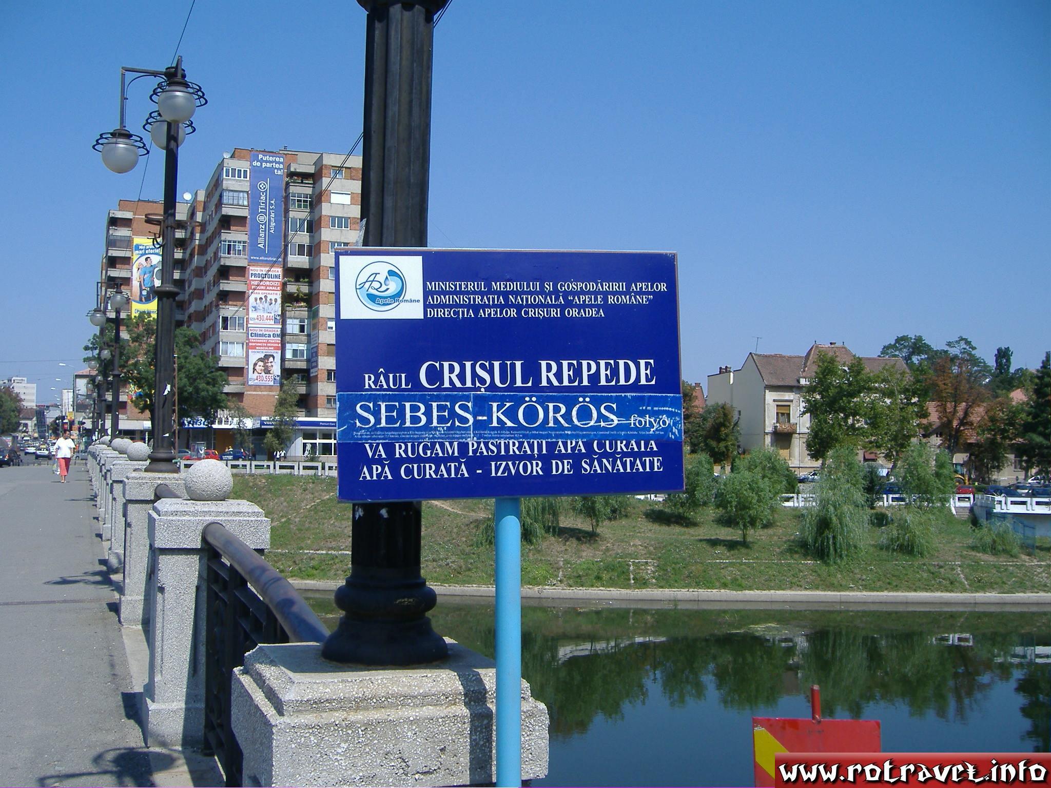 The bridge over the Crişul Repede River
