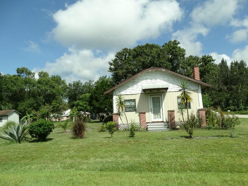 Typisch amerikanisches Haus entlang der Straße USA Roadtrip