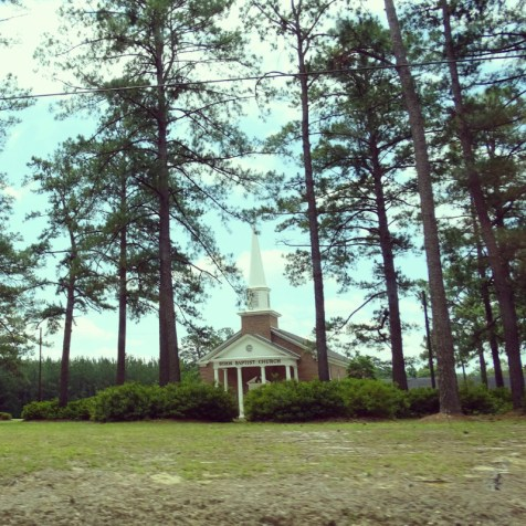 Kirche im Nirgendwo unterwegs in South Carolina