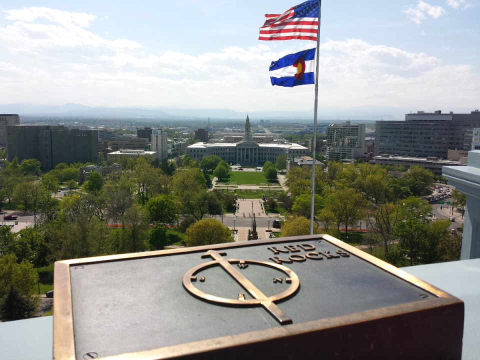 Colorado View from State Capitol Denver
