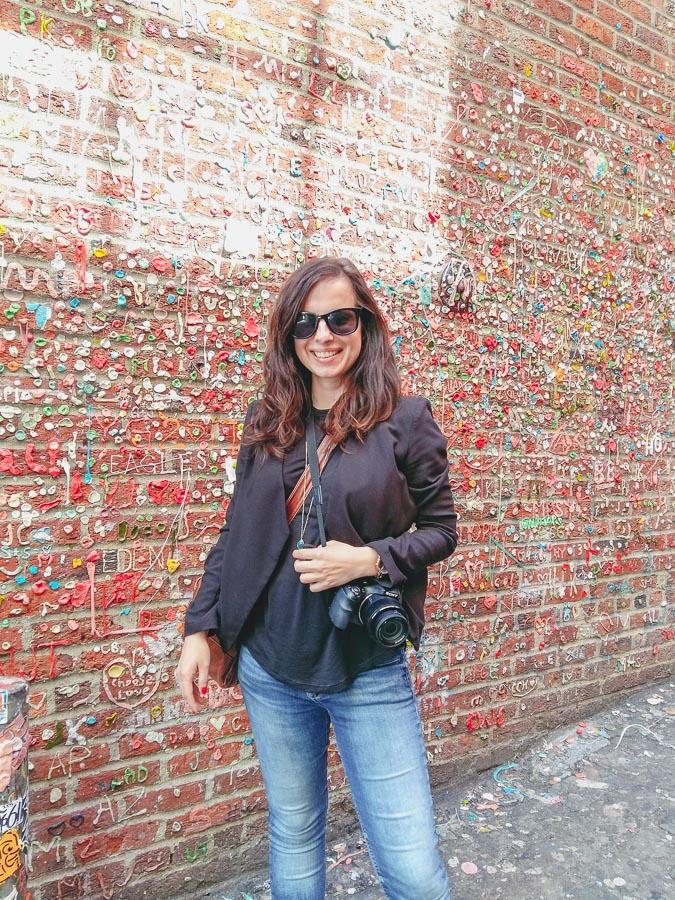 Wand voller alter Kaugummi in Seattle