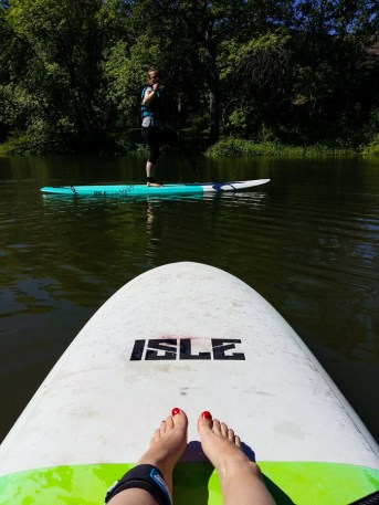 SUP in Hood River Oregon