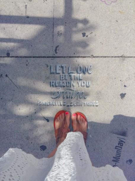 Graffiti am Boden der wynwood walls