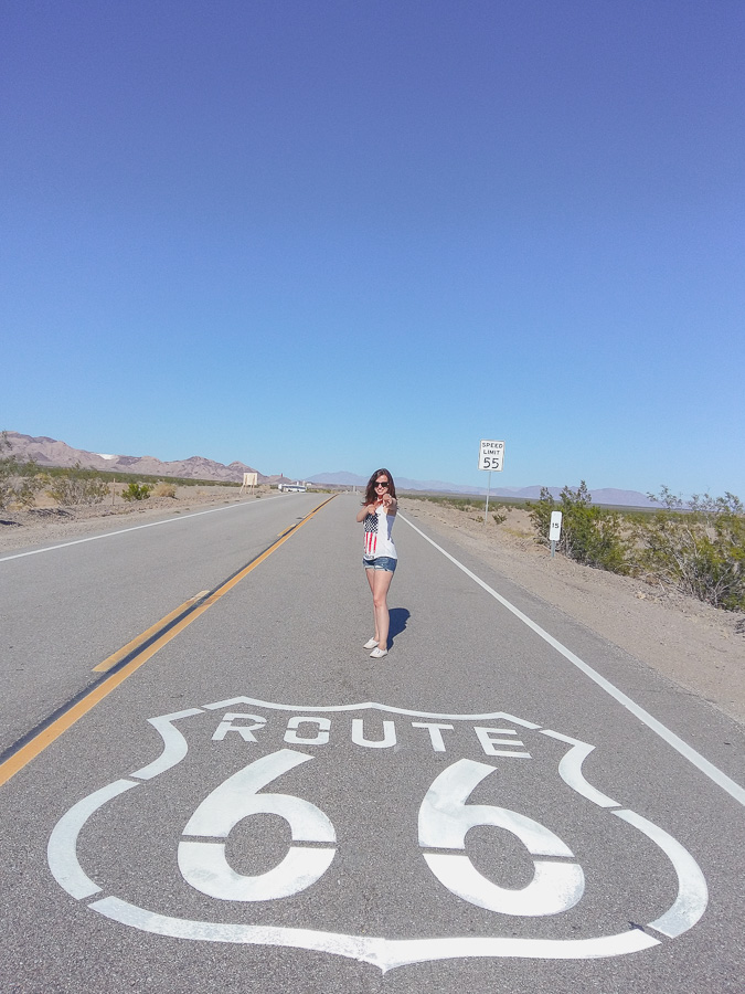 Route 66 sign Amboy