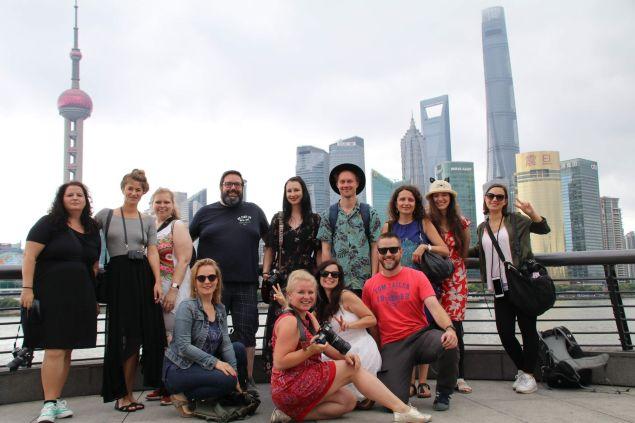 Bloggerreise Gruppenfoto Shanghai