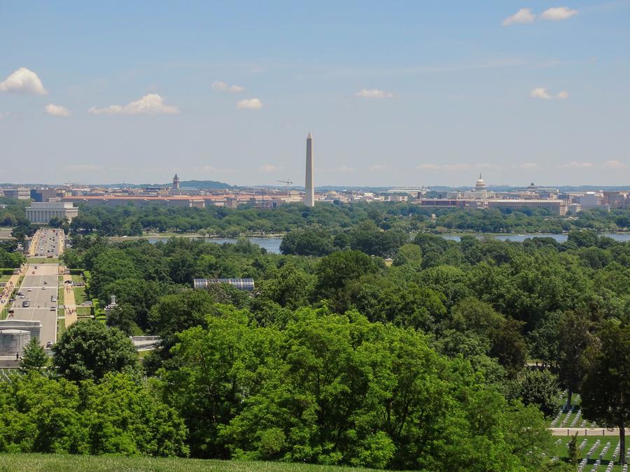 Herrlicher Ausblick auf Washington DC
