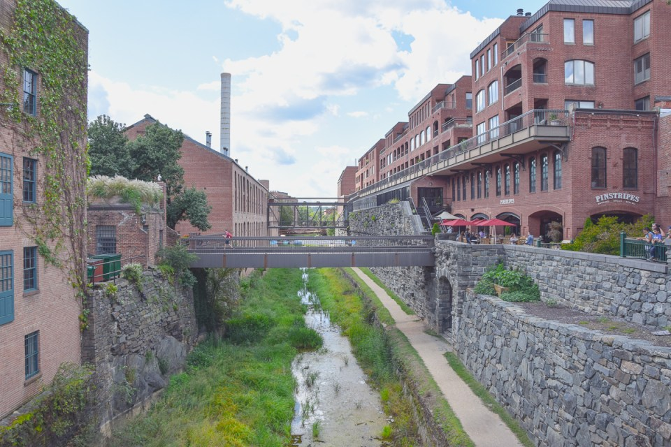 Der Chesapeake and Ohio Canal in Georgetown
