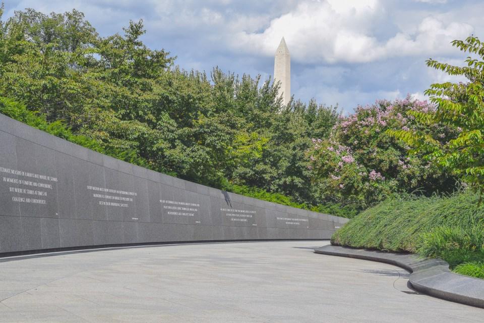 """Die """"Wand der Zitate"""" am Martin L. King Memorial"""
