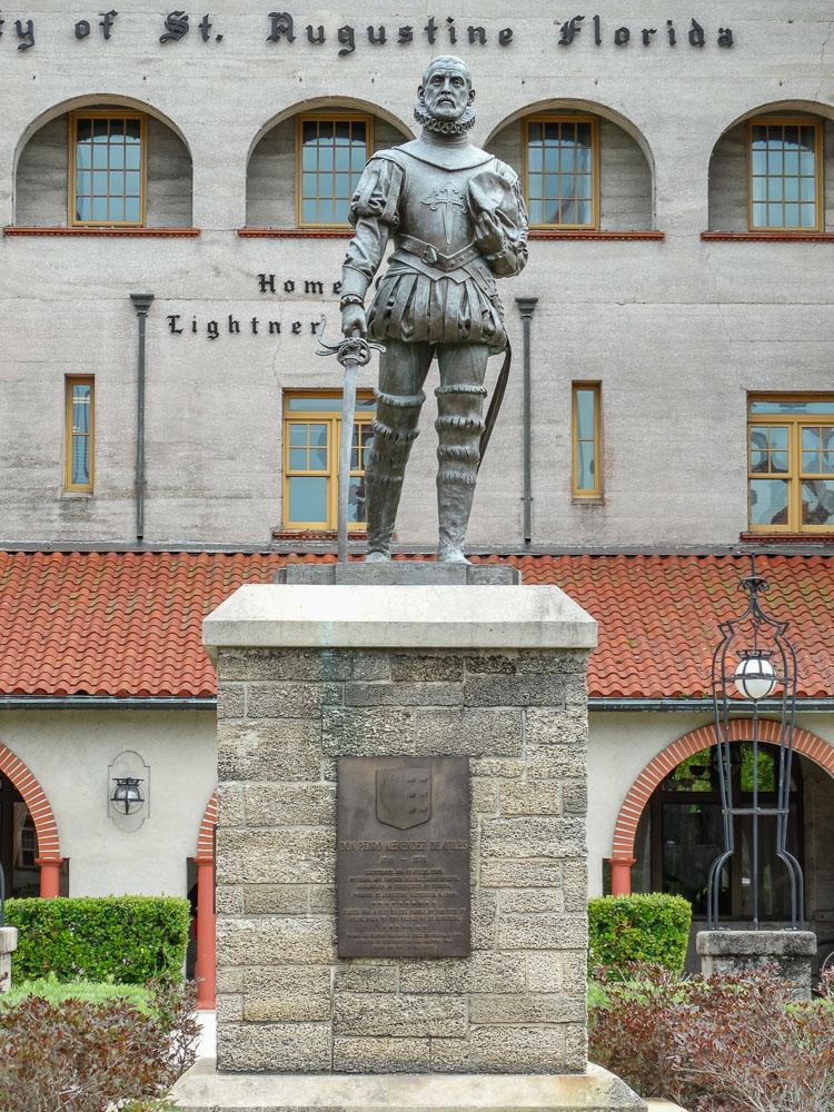 Der spanische Entdecker Ponce de Leon in St. Augustine