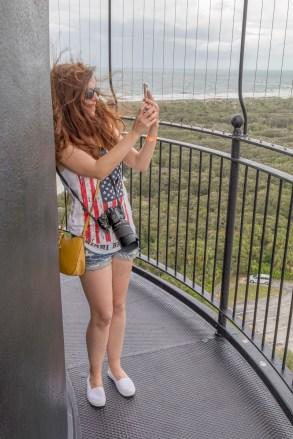 Auf dem Ponce Inlet Lighthouse