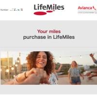 Avianca航空 Lifemiles 年末セールで 1万マイルを購入