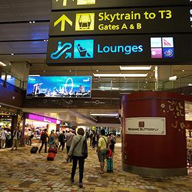 シンガポール チャンギ空港 タイ航空ラウンジでまったり