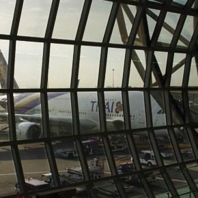 バンコク→香港 タイ航空 A380 ビジネスクラス