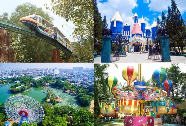 GAMES IN DAM SEN CULTURAL PARK HO CHI MINIH CITY