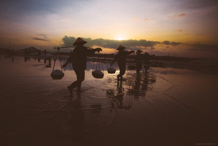 HON KHOI SALT FIELDS IN NHA TRANG