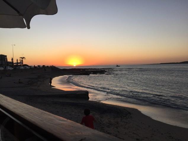 View from dinner in Punta del Este
