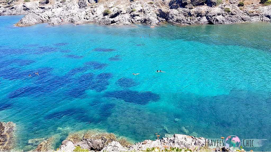 Aguas turquesas Cala Tamariua Costa Brava