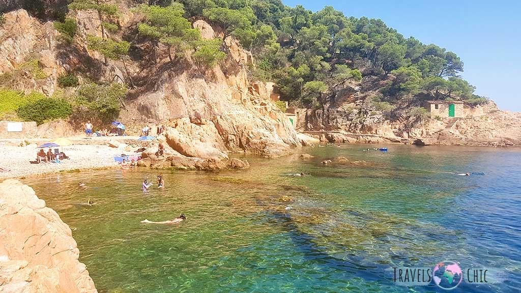 Cala Agua Dulce Playa de Tamariu Costa Brava