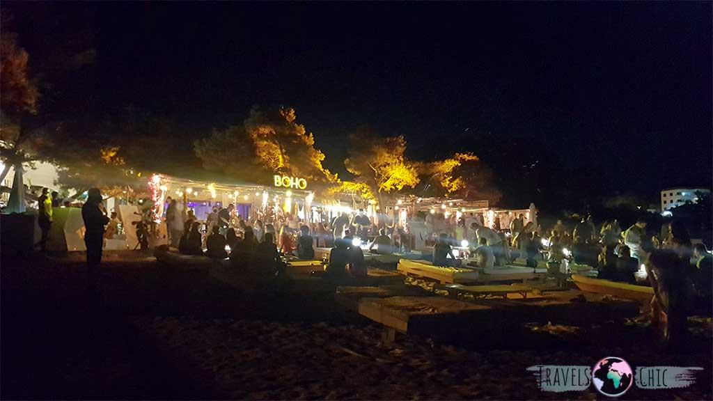 Foto de Alma Beach Club Ibiza en una fiesta privada nocturna