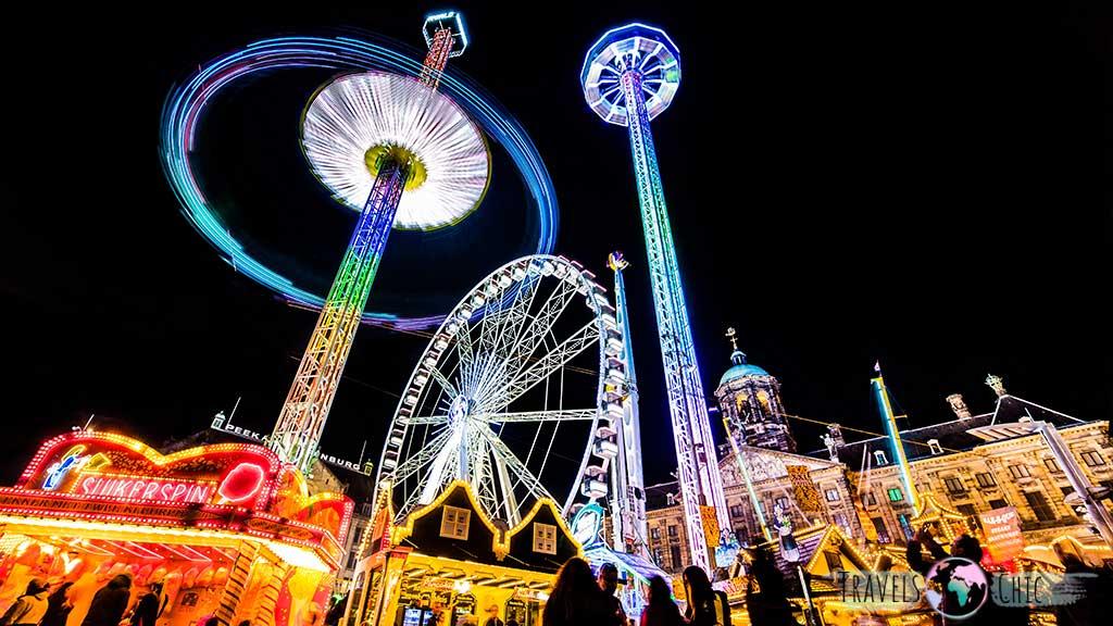 Feria Plaza Dam, una de las cosas que ver en Amsterdam en Navidad