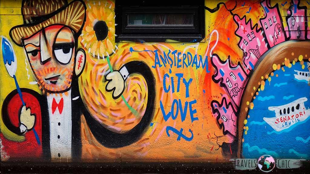Arte callejero que ver en Amsterdam