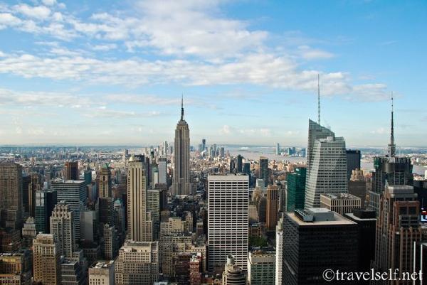 вид на Манхеттен с площадки Top of the Rock фото