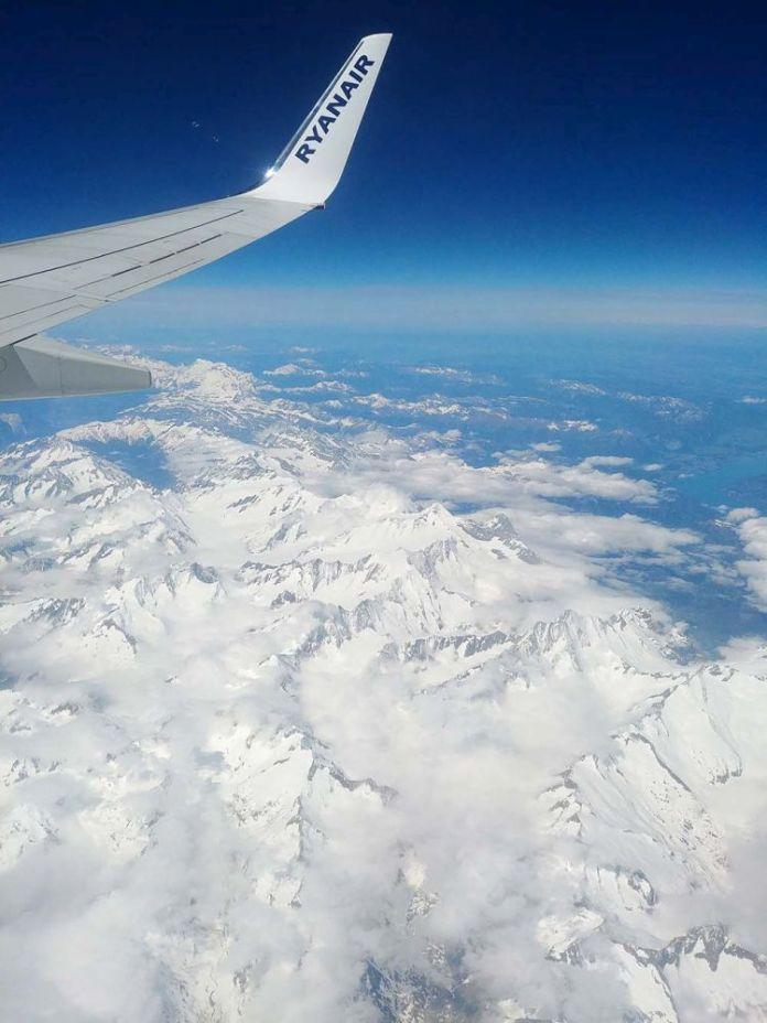 Alpy z samolotu