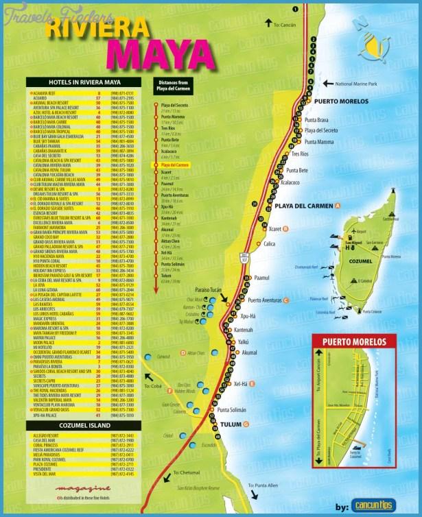 Riviera Maya Map