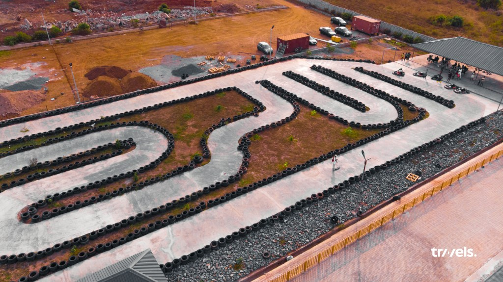 Aerial View of Go-kart tracks at Deon Recreational Centre