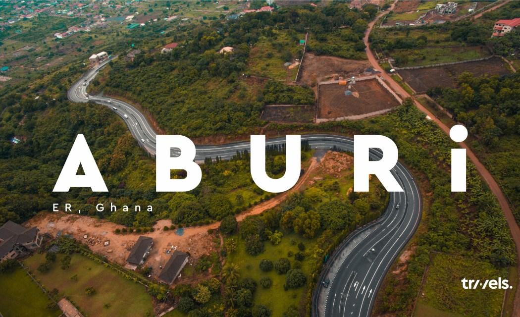 Aerial shot of Aburi