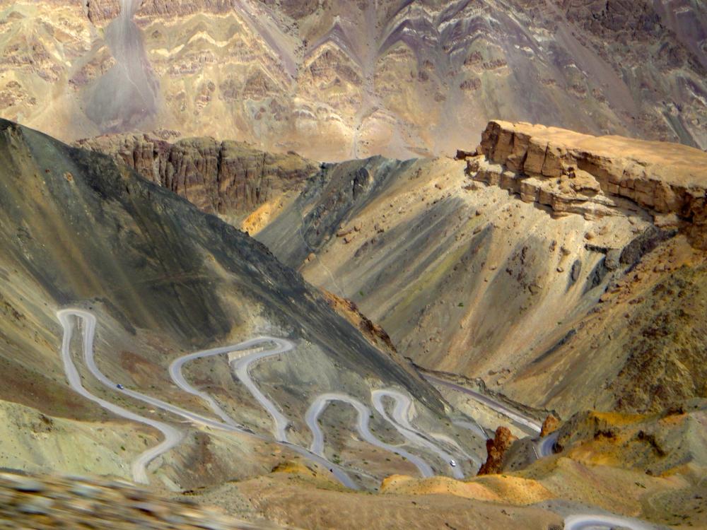 Winding roads Ladakh.