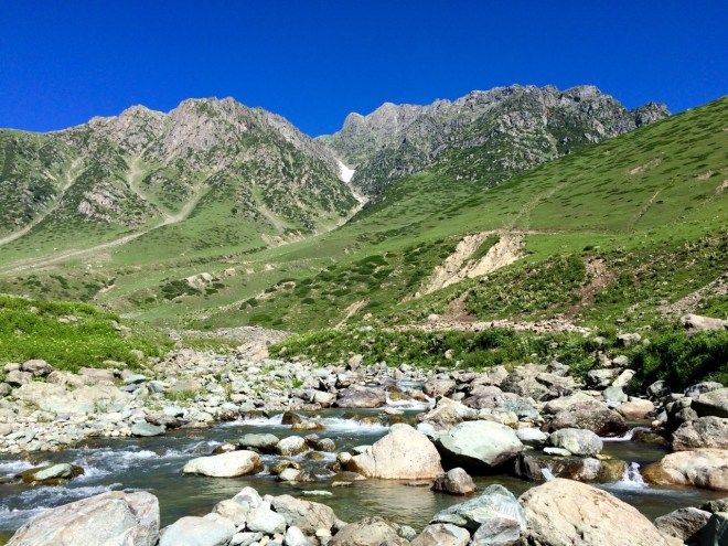 Blue skies, glacial streams, and clean mountain air!!
